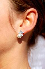 Remembering (shancan1) Tags: wedding bride details diamond ear pearl earing