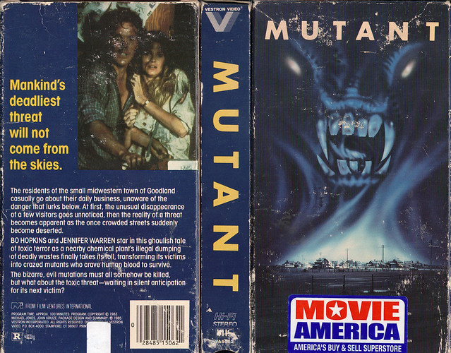 MUTANT (VHS Box Art)