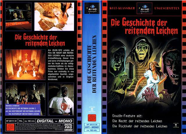 """das ungeheuer und die jungfrau """"The Blind Dead"""" (VHS Box Art)"""