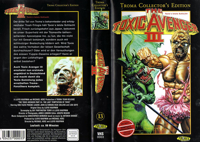 The Toxic Avenger 3 (VHS Box Art)