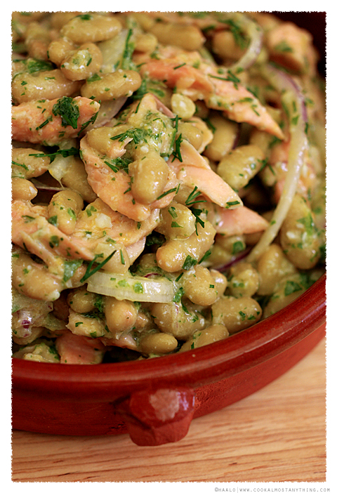Smoked Trout and Green Flageolet Bean Salad© by Haalo