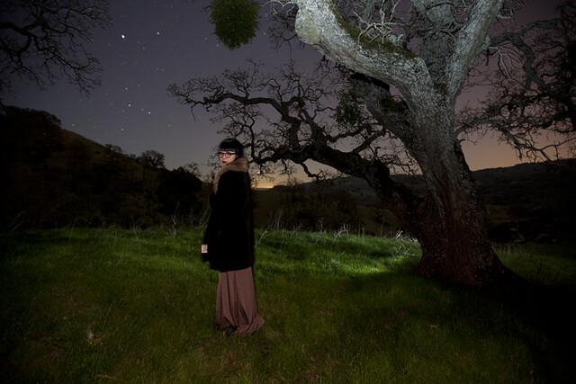 underneath the night sky