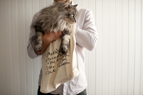 mea in a meow tote