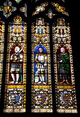Ludlow, St Laurence (beery) Tags: england church window heraldry shropshire arms stainedglass ludlow stlaurence parishchurch rogermortimer edmundmortimer twilliment richarddukeofcambridge