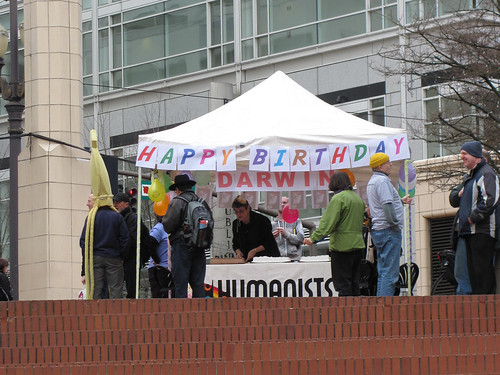 Darwin Day Party at Pioneer Square, Portland, OR