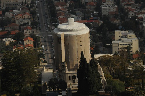 The shrouded Shrine of the Bab