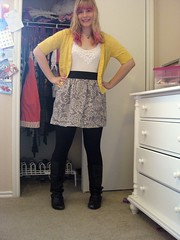 Pink and Yellow (G uillotine) Tags: fashion wiw whatiwore ootd
