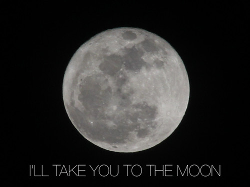 oh, the moon