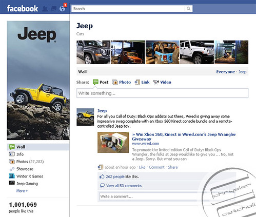 JEEP FB Hits Million copy