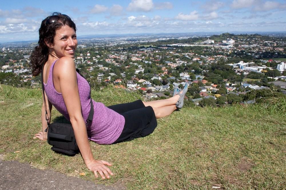 Lori on top of Mt. Eden