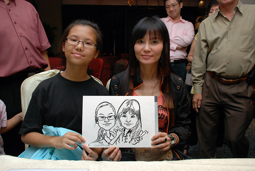 caricature live sketching for OCBC Securities - 8
