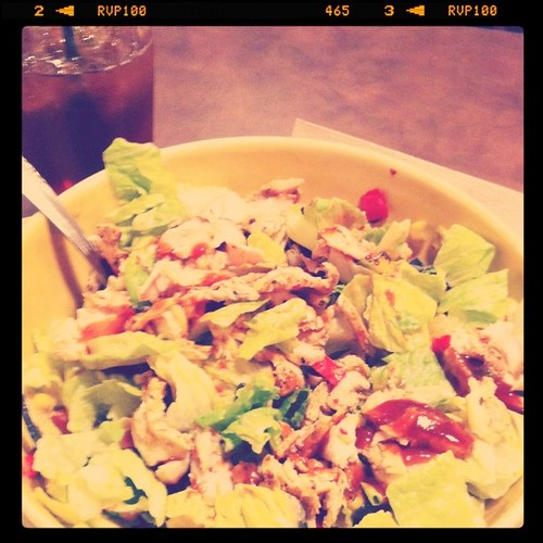Project 365 53/365: A yummy BBQ chicken salad from @PaneraBread makes a delicious lunch!