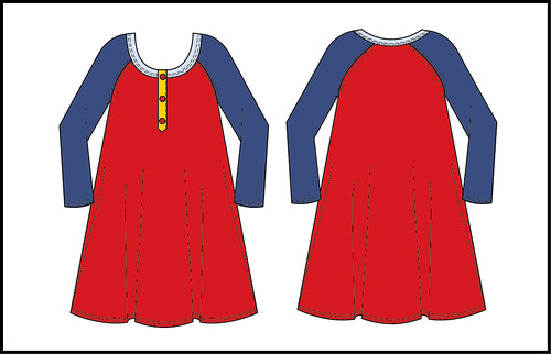 basic dress tracing