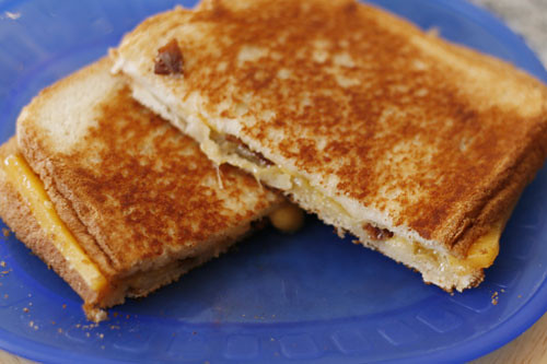 Grilled Cheese with Bacon Sandwich