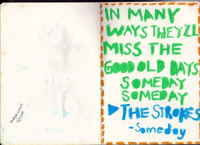 Their lyric slipped in my sketch book