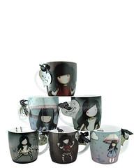 gorjuss mugs set (Suzanne Woolcott) Tags: portrait cute art cup girl mugs artist bow kawaii designs licensed santoro gorjuss santorographics