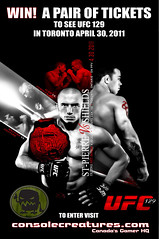 UFCcontestBannerc (Console Creatures) Tags: toronto gaming ufc stpierre shields fights mma ufc129 consolecreatures