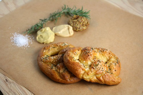 Rosemary and Sea Salt Soft Pretzels