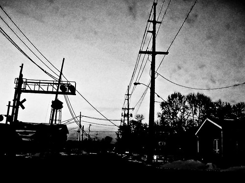 nightshot train crossing