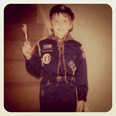 Me at ten. Yes, I was a member of a para-military organization. by ObieVIP