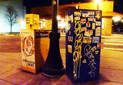 Oh HI!!!! - Portland, Oregon (SKAM sticker) Tags: streetart oregon portland stickerart think streetshots slaps skam kanye 2011 mrsay bridecampaign feeceez slaptaggers