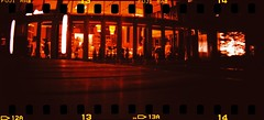 a bar (chant0m0) Tags: film japan night analog lomo fuji crossprocess nagoya sensia sprocketrocket