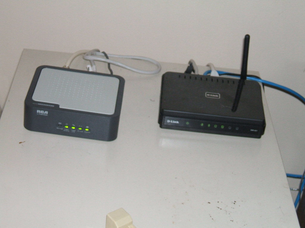 Coble Modem and D-Link Router