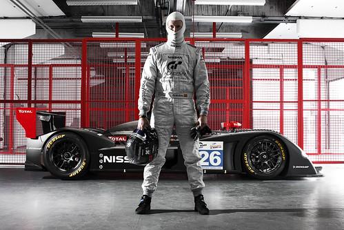 Lucas Ordonez and 2011 Nissan LMP2 car