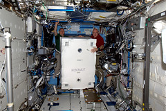 Robonaut gets moved from PMM to the Lab (astro_paolo) Tags: nasa destiny iss esa robonaut internationalspacestation europeanspaceagency expedition26 magisstra