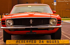 Mustang 1970'  - W[3] (Mohammad Rehawi | Evil Hard) Tags: orange parking hours 24 1970 mustang reserved