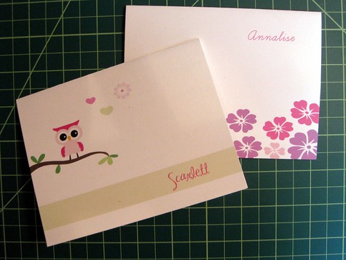 Kids' personalized stationery