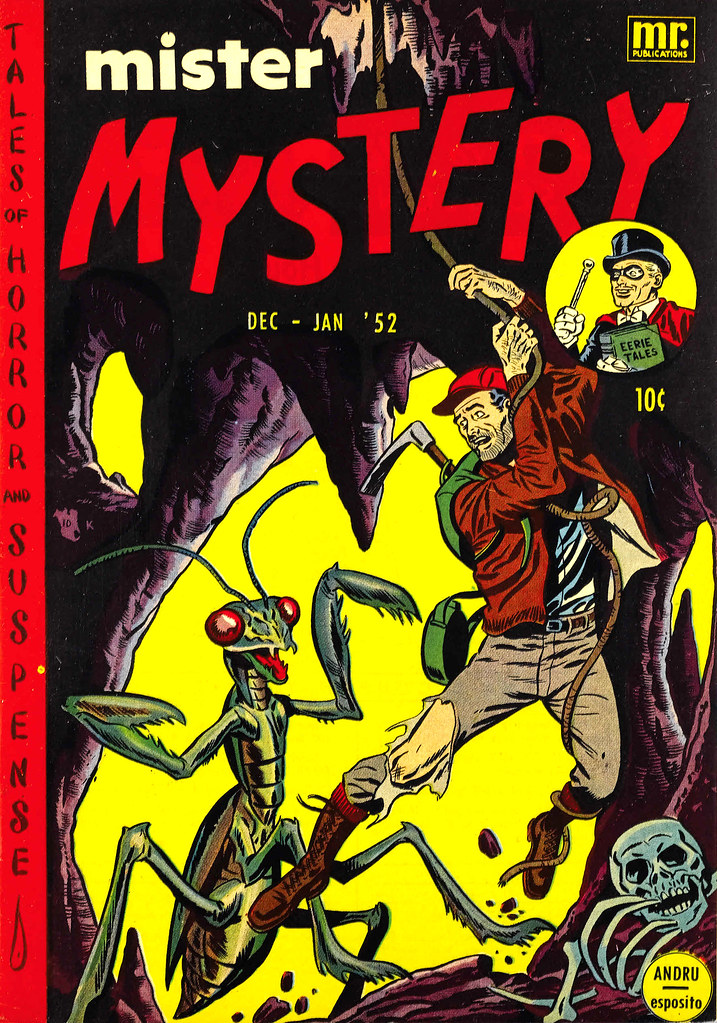 Mister Mystery #3 Cover By Ross Andru and Mike Esposito (Aragon Magazines, Inc., 1951)