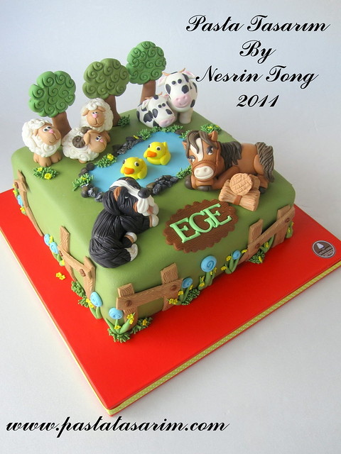 FARM ANIMAL CAKE - EGE BIRTHDAY CAKE