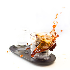 Coffee & Splash (dongga BS) Tags: coffee drops kaffee splash splish frozenmoment spritzer canoneos50d ef35mmf14lusm