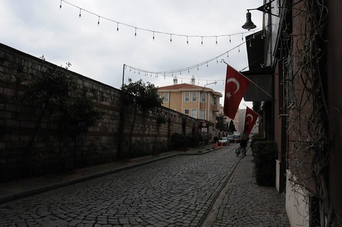 Typical street in Sultanahmet, our historic neighbourhood