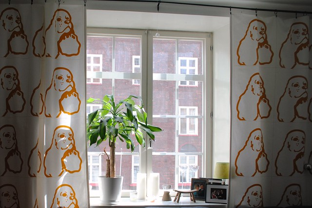 marimekko curtains in sara and jussi's apartment