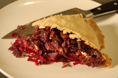 Bloody good beet and cabbage pie by Eve Fox, Garden of Eating blog, copyright 2011