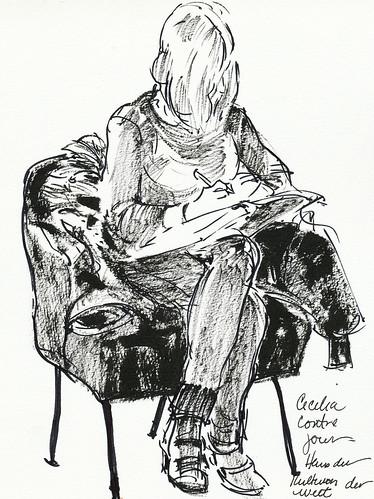 Berlin: Cecelia writing