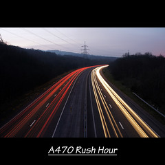 A470 Rush hour (Chris D. Jones) Tags: road uk light red sky white car tarmac wales night photoshop lights evening long exposure dusk sony border trails 8 pylon adobe rush hour elements multiple dual alpha borders startrails merged merthyr layered a470 carriageway 18200mm tydfil a580 startrailsexe sonyalphalearningcenter pse8
