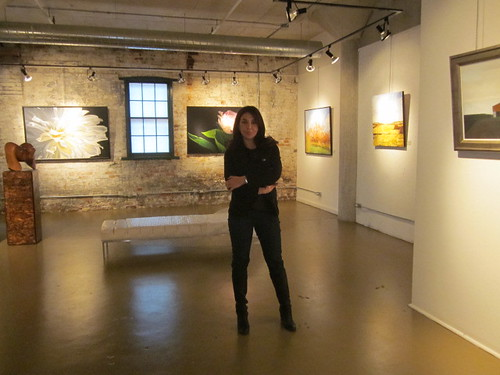 artagallery in the historical distillery district and the director Fay Athari