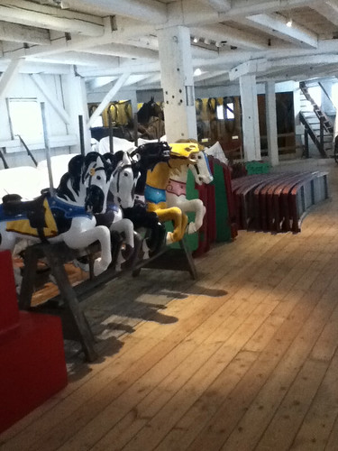 Carousel horses in Horseshoe Barn