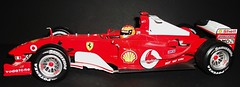 Ferrari F2004 Micheal Schumacher . Hotwheels 1/18th scale. (Ledlon89) Tags: f1 grandprix formulaone hotwheels modelcars modelcar racingcar scalemodel diecastcars scaleddown michealschumacher ferrarif2004
