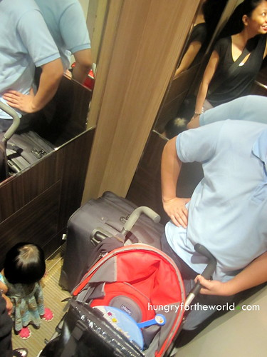 cramped elevator