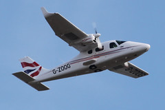 G-ZOOG - 2010 build Tecnam P2006T, climbing away from Hawarden (egcc) Tags: chester britishairways ceg 049 hawarden tecnam polarbair egnr rotax912 p2006t gzoog