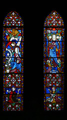 Lady Chapel  - Annunciation and Assumption John Hardman stained glass
