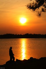 One Calm Evening (christopher.cannon) Tags: sunset skyscape fishing southcarolina lakemurray southcarolinasunset calmscene lakemurraysunset