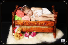 Visiting Baby Bear (MissSmile) Tags: baby color girl funny child teddy bright vivid happiness guest props babybear misssmile