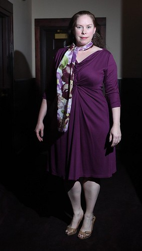 Tres Chic Dress in Plum (fashion show)