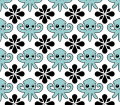 Squid Fabric Pattern