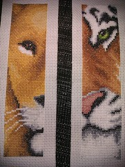 Lion and Tiger bookmarks